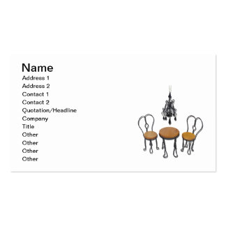 Chandelier Bistro Setting Business Card Templates