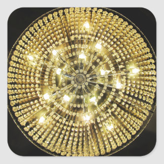 Chandelier Bling Square Sticker