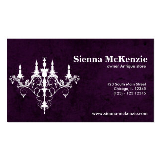 Chandelier Business Card Templates