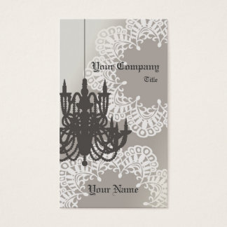 Chandelier Business Card_Brown