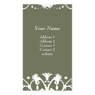 Chandelier Business Card - Moss