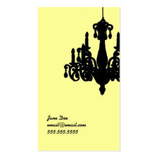 Chandelier Calling Card Business Card Template