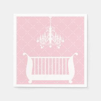 Chandelier Crib Baby Girl Shower Paper Napkins