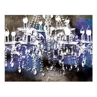 Chandelier Crystal Noir Postcard