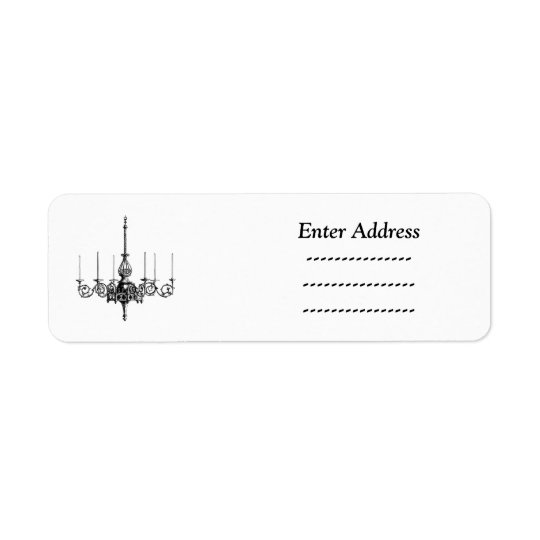 Chandelier Custom Sticker Address label