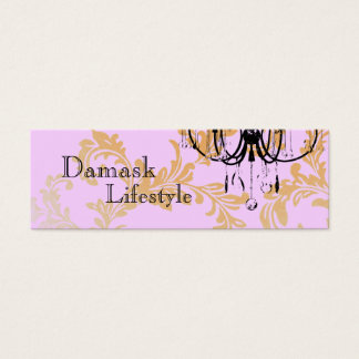 Chandelier Damask Business Card