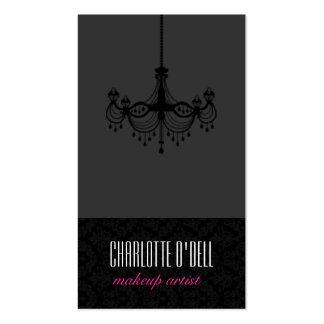 Chandelier Damask Print Business Cards