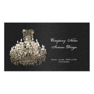 Chandelier decorator business card template