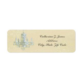 Chandelier Elegant Chic Address Label - Cream