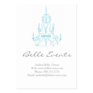 Chandelier Event Business Cards