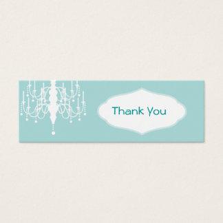 Chandelier Favor Tags Mini Business Card
