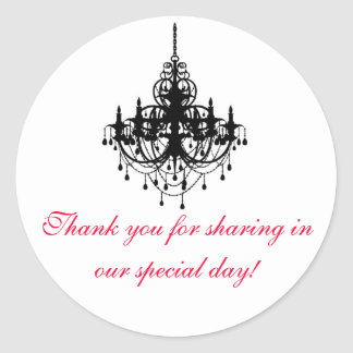 Chandelier Favour Tag Stickers