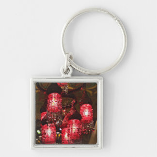 Chandelier for sale, Khan el Khalili Bazaar, Silver-Colored Square Key Ring