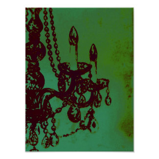 Chandelier Glamour Print Poster