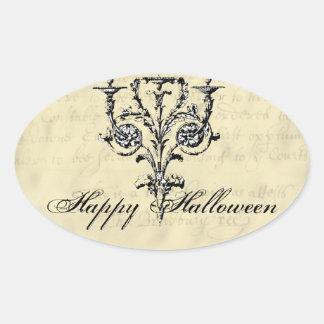 Chandelier Halloween Oval Sticker