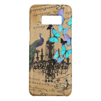 chandelier modern vintage peacock blue butterfly Case-Mate samsung galaxy s8 case