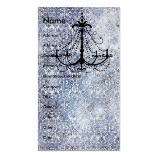 Chandelier on blue faux vintage wallpaper pack of standard business cards