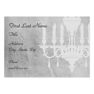 Chandelier on creased Gray Paper Business Card Templates