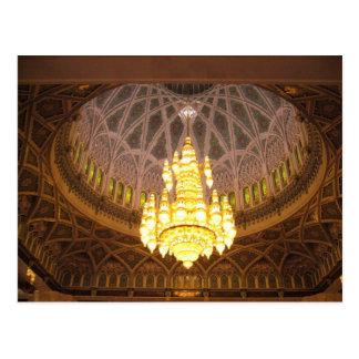 chandelier postcard