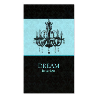 Chandelier Real Estate Business Card Blue