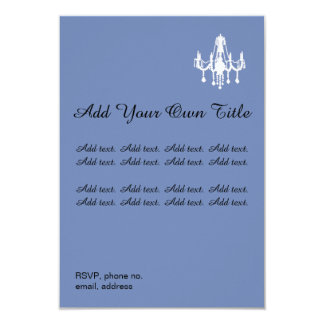 Chandelier Romantic Simple Wedding Invitation