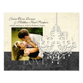 Chandelier Save the Date Announcements