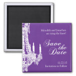 Chandelier Save the Date Magnet