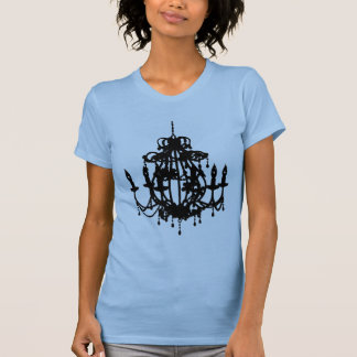 Chandelier silhouette pop art tee shirt
