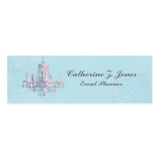 Chandelier Skinny Business Card - Blue