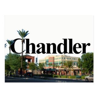 Chandler Arizona Skyline w/ Chandler in the Sky Postcard