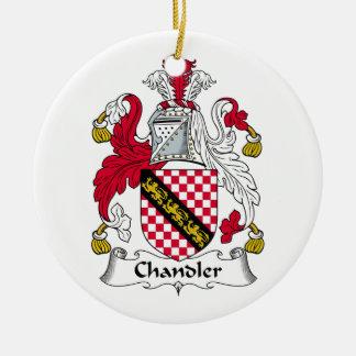 Chandler Family Crest Ceramic Ornament