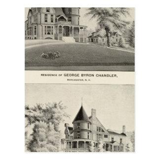 Chandler residence, Manchester, NH Postcard