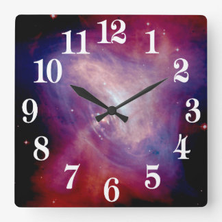 Chandra Crab Nebula NASA Square Wall Clock