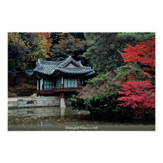 Changdok Palace in fall Poster