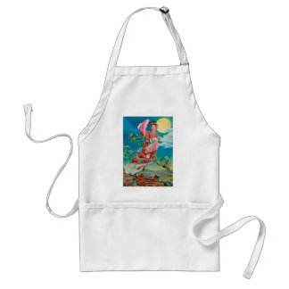 Chang'e 嫦娥 Flying to the Moon Mid-Autumn Festival Aprons