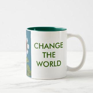 CHANGE A LIGHT, CHANGE THE WORLD Two-Tone COFFEE MUG
