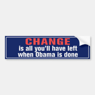 Change Anti Obama Bumper Sticker