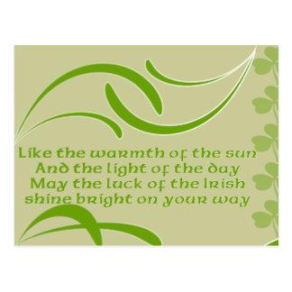 Change background color-Irish Blessing Postcard