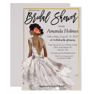 CHANGE COLOR - Fashion Bridal Shower Invitation