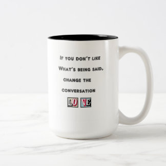 change conversation message mug