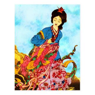 Chang'e, Goddess of the Moon Postcard