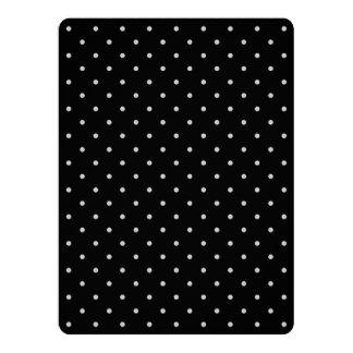 "Change Grey Polka Dots Any Color Click Customize 6.5"" X 8.75"" Invitation Card"