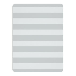 """Change Grey Stripes to  Any Color Click Customize 6.5"""" X 8.75"""" Invitation Card"""