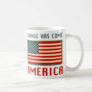 Change Has Come to America Obama Basic White Mug