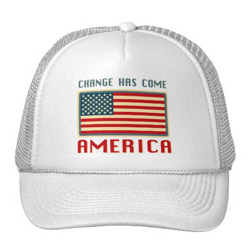 Change Has Come to America Obama Mesh Hat