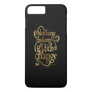 Change Motivational Quote Gold On Black iPhone 7 Plus Case
