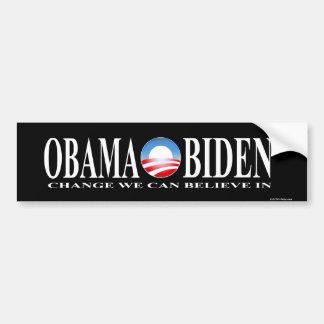Change obama biden sticker black