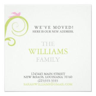Change of Address 13 Cm X 13 Cm Square Invitation Card
