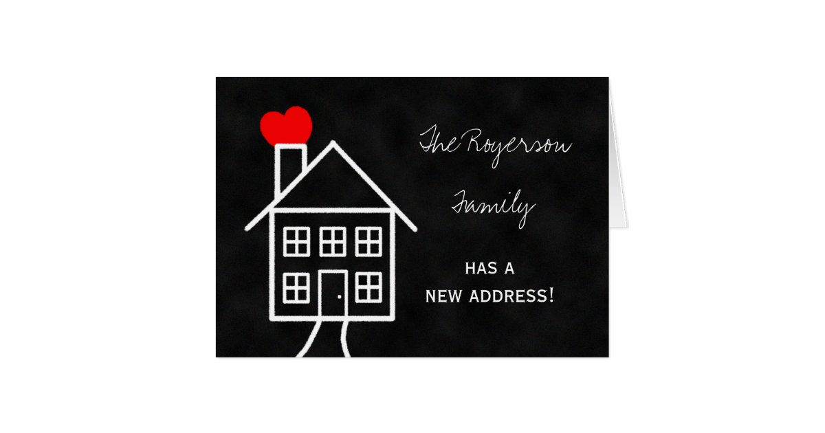 Change of address announcement note card zazzlecomau for Change of address note cards