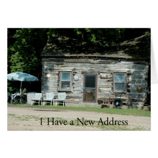 Change of Address Card: Log Cabin Card